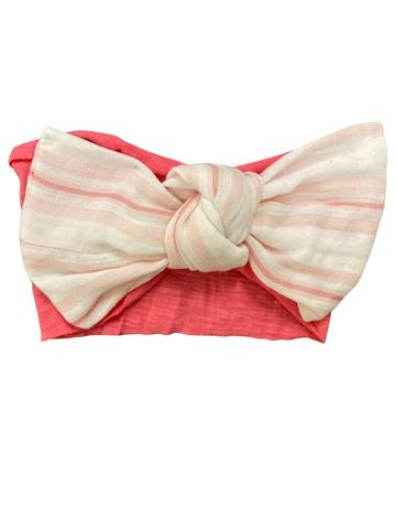 Mimi & Maggie, Accessories - Bows & Headbands,  Mimi & Maggie Blush Awning Stripe Headband