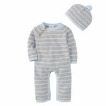 Mud Pie, Baby Boy Apparel - Outfit Sets,  Mud Pie - Blue and Gray Knit Baby Bodysuits Gift Set