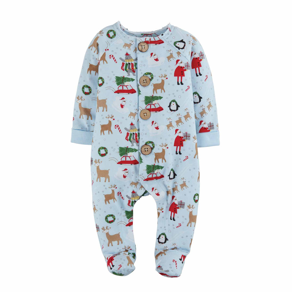 Mud Pie, Baby Boy Apparel - Pajamas,  Mud Pie - Boys Christmas Print Sleeper