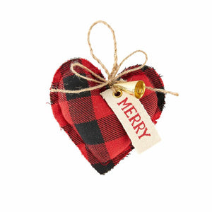 Mud Pie, Home - Decorations,  Mud Pie - Buffalo Check Ornament