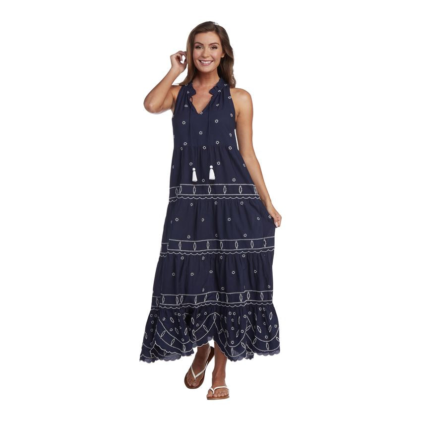 Mud Pie, Women - Dresses,  Mud Pie - Gisele Embroidered Maxi Dress