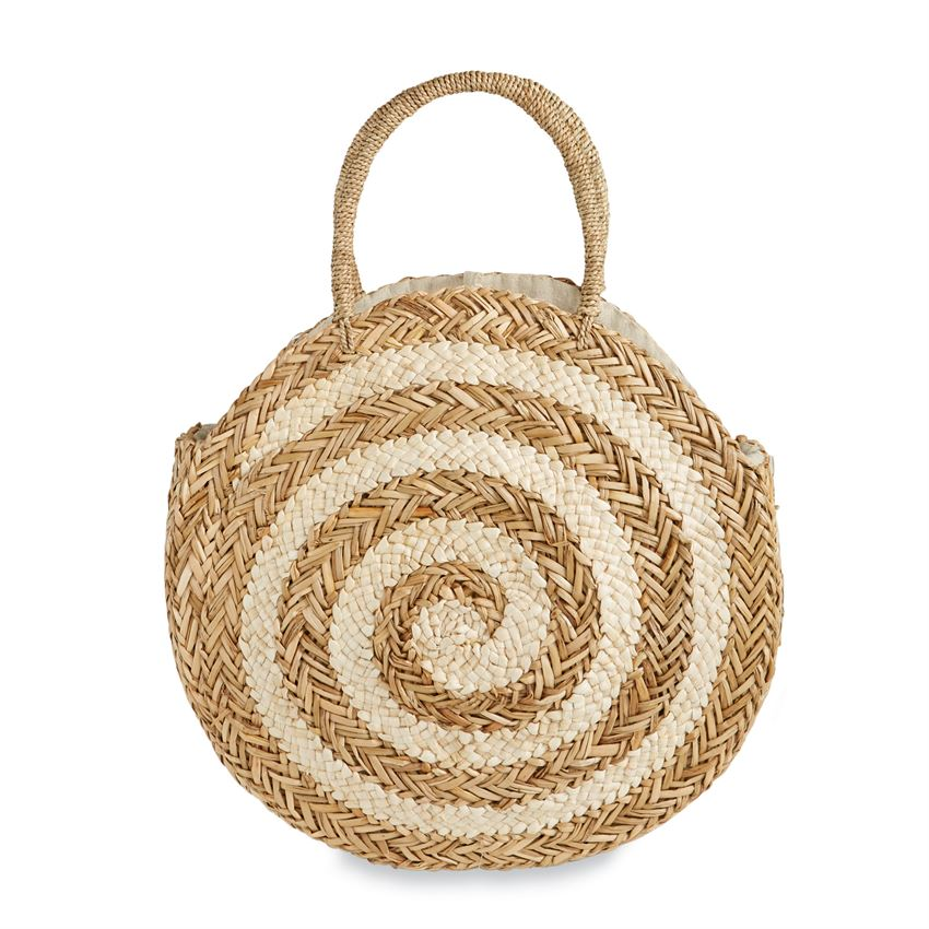 Mud Pie, Accessories - Handbags,  Mud Pie - Large Spiral Circle Tote
