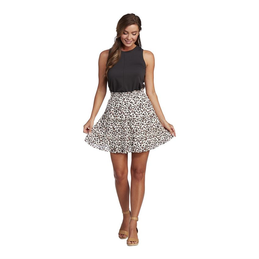 Mud Pie, Women - Skirts,  Mud Pie - Leopard Susie Flounce Skirt