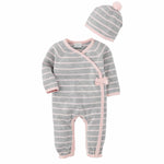 Mud Pie, Baby Girl Apparel - Outfit Sets,  Mud Pie - Pink Grey Knitted Gift Set
