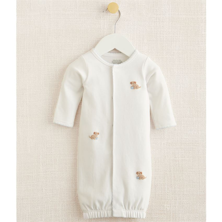 Mud Pie - Blue French Knot Puppy Sleep Gown
