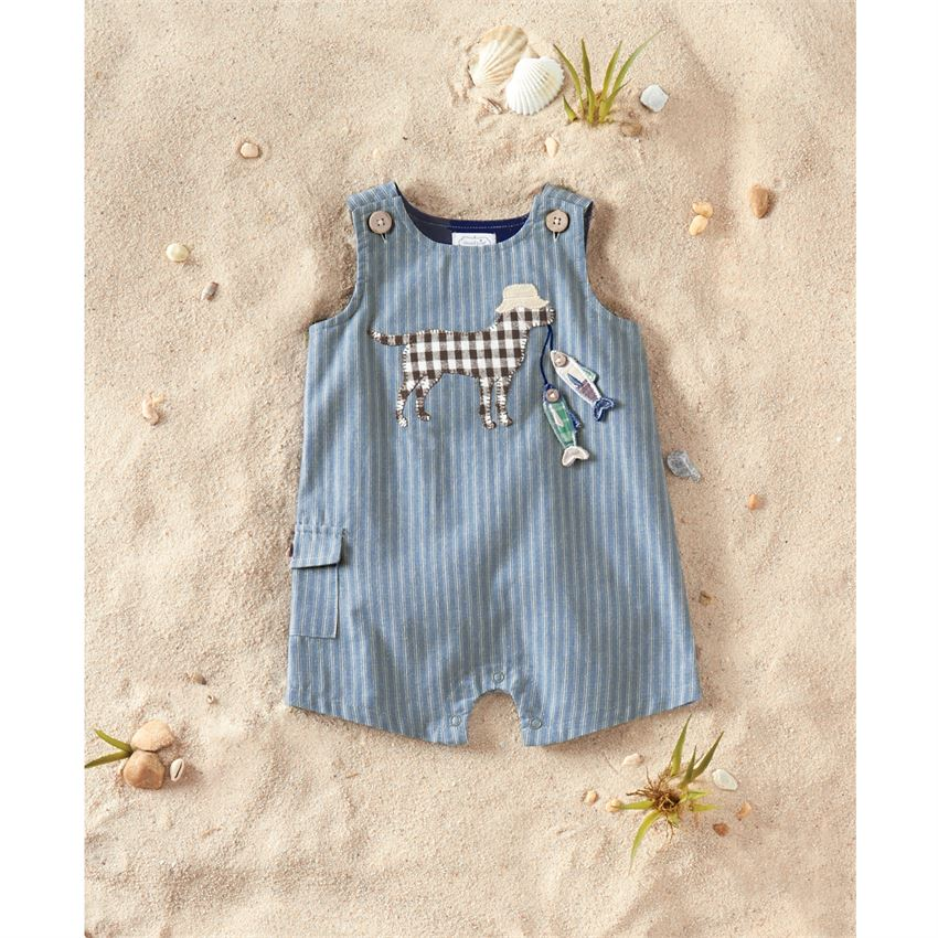 Mud Pie - Chambray Fishing Pup Romper