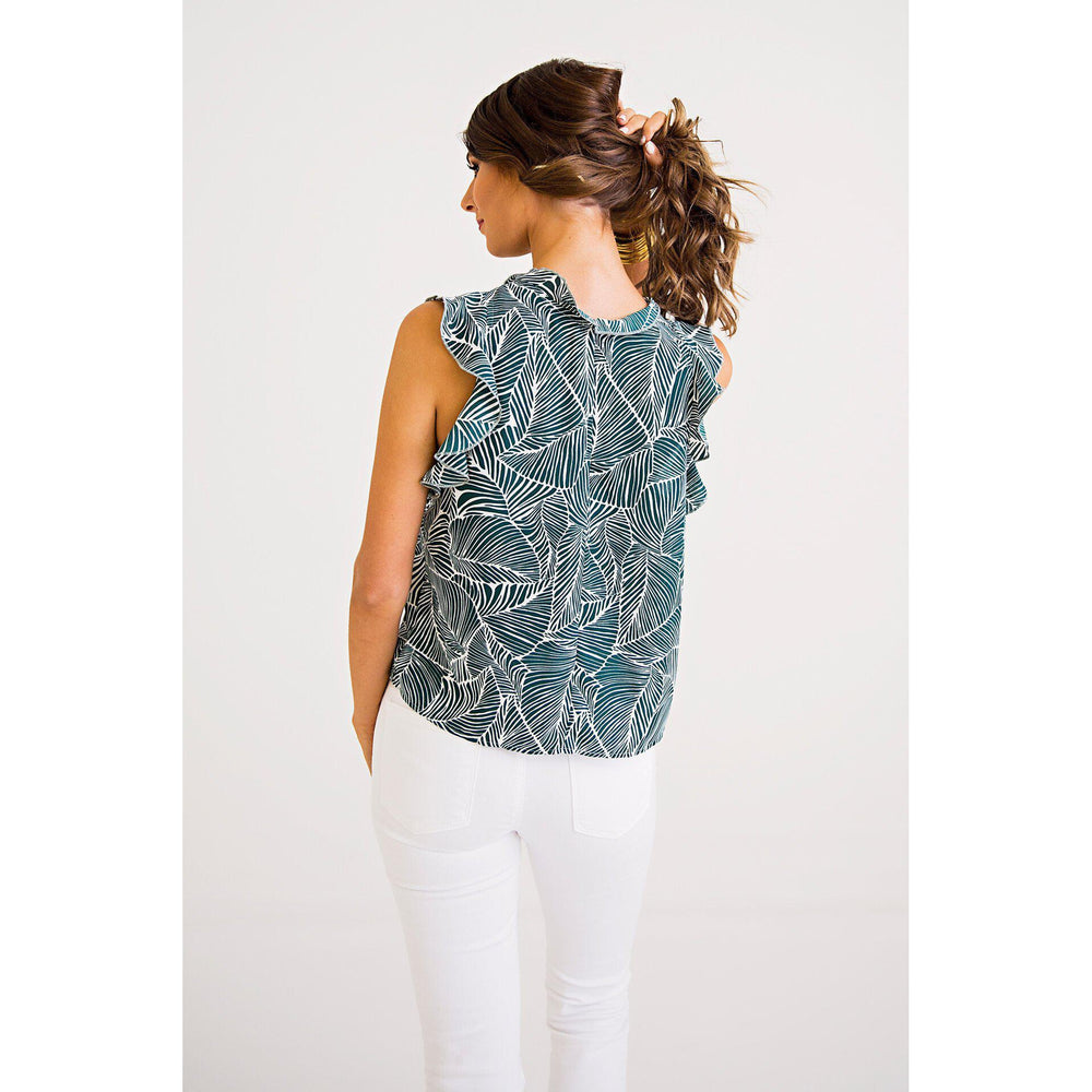 Eden Lifestyle, Women - Shirts & Tops,  Leaf Ruffle Top