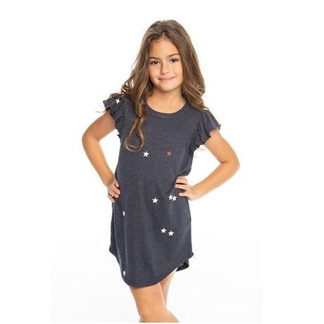 Chaser Girls Americana Mini Stars Triblend Dress-Girl - Dresses-Chaser-4-Eden Lifestyle
