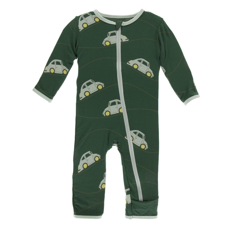 Kickee Pants - Coverall with Zipper - Topiary Italian Car-Coverall-KicKee Pants-6-9M-Eden Lifestyle