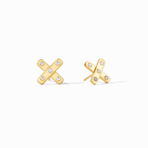 Julie Vos, Accessories - Jewelry,  Julie Vos - Paris X Stud Gold