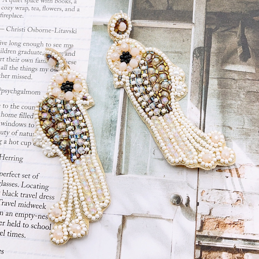 Eden Lifestyle, Accessories - Jewelry,  Pearl Bird Earring