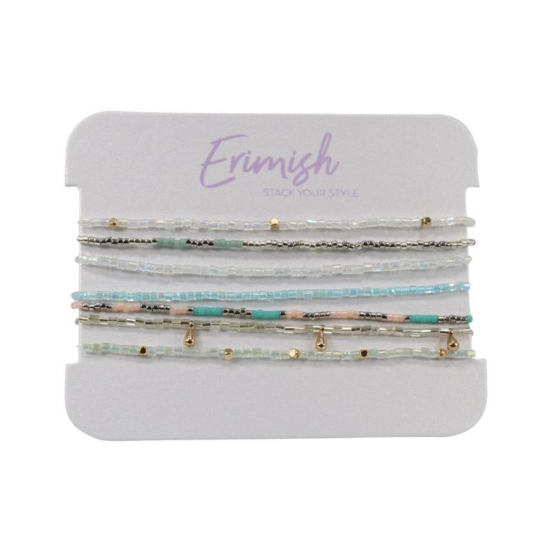 Mint Peeps Bracelet Stack-Accessories - Jewelry-Erimish-Eden Lifestyle