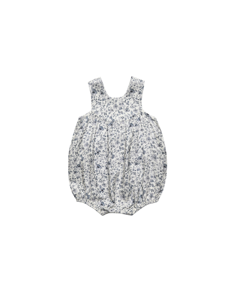 Rylee and Cru June Romper Blue Floral Ivory - Eden Lifestyle