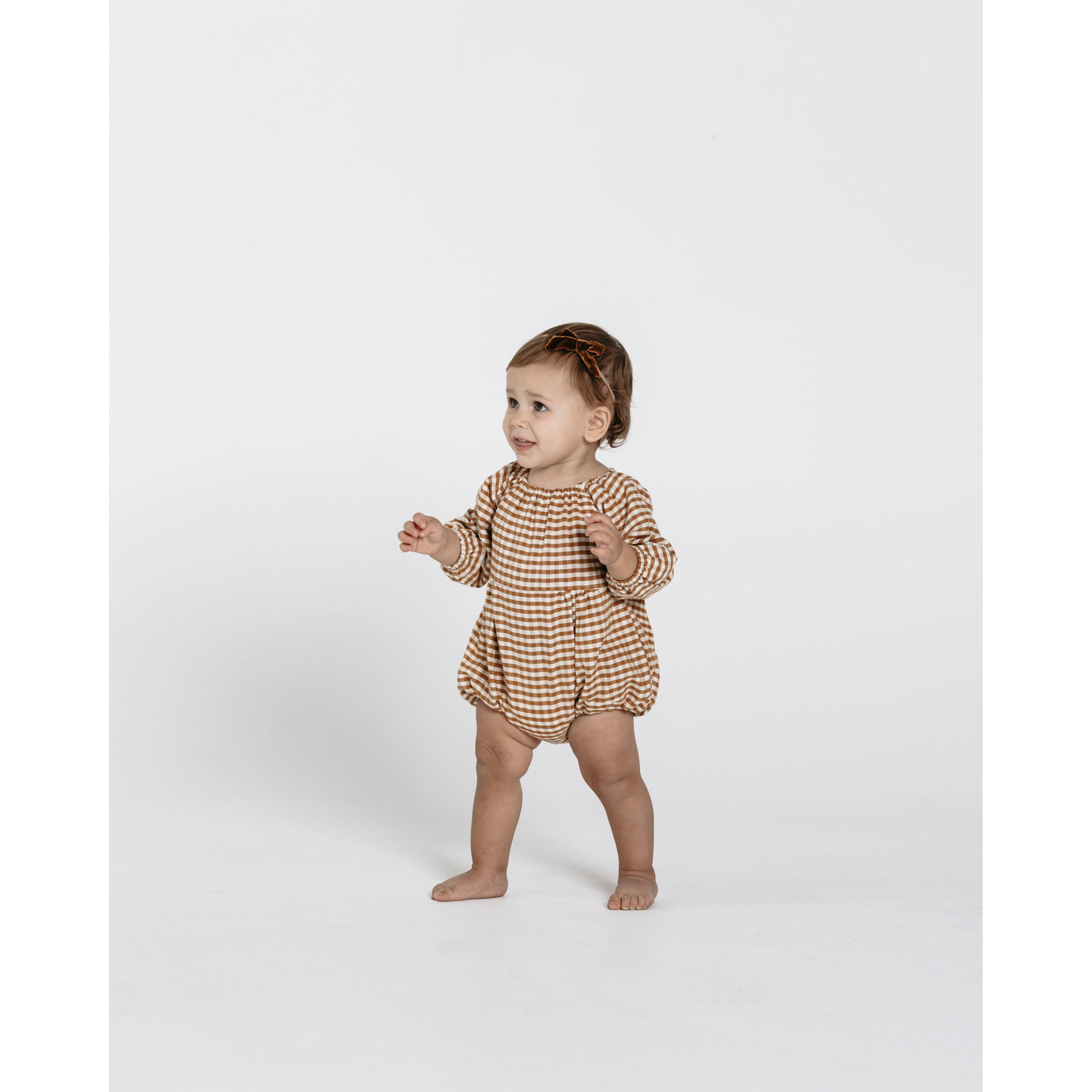 574f29f18055 Gingham Bubble Romper-Romper-Rylee and Cru-0-3M-Eden Lifestyle