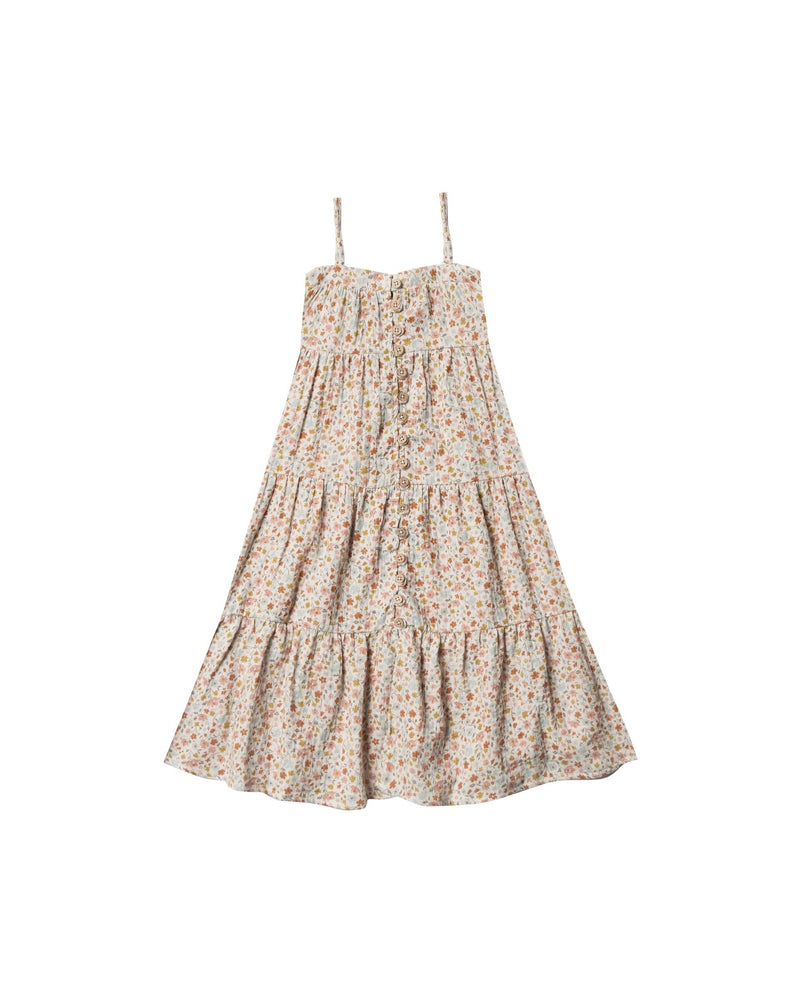 Rylee & Cru Flower Field Tiered Maxi Dress