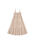 Rylee and Cru Tiered Maxi Dress Natural Stripe - Eden Lifestyle