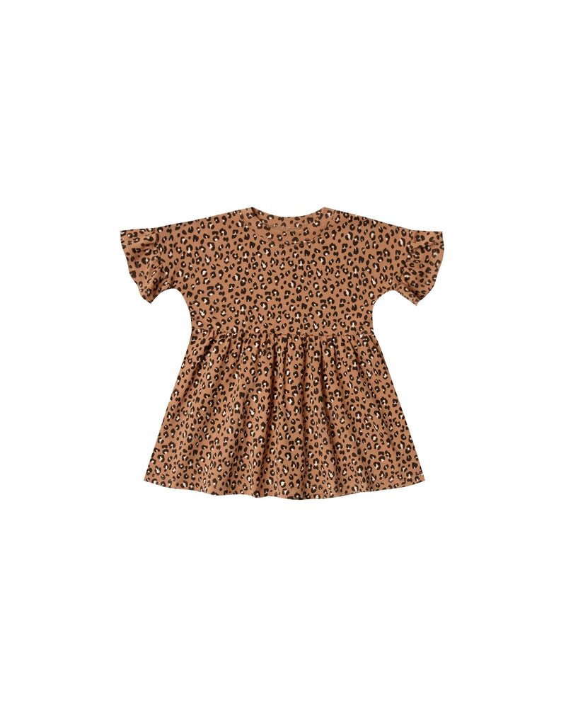 Rylee & Cru Cheetah Babydoll Dress