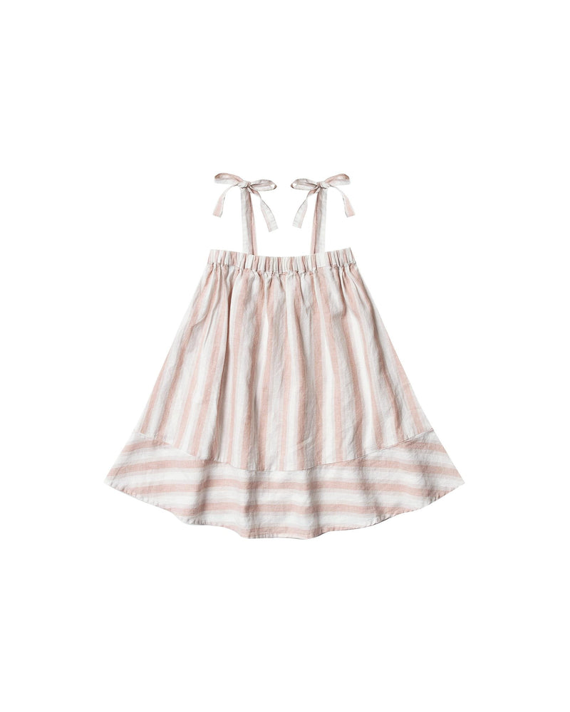 Rylee & Cru Petal Stripe Shoulder Tie Dress