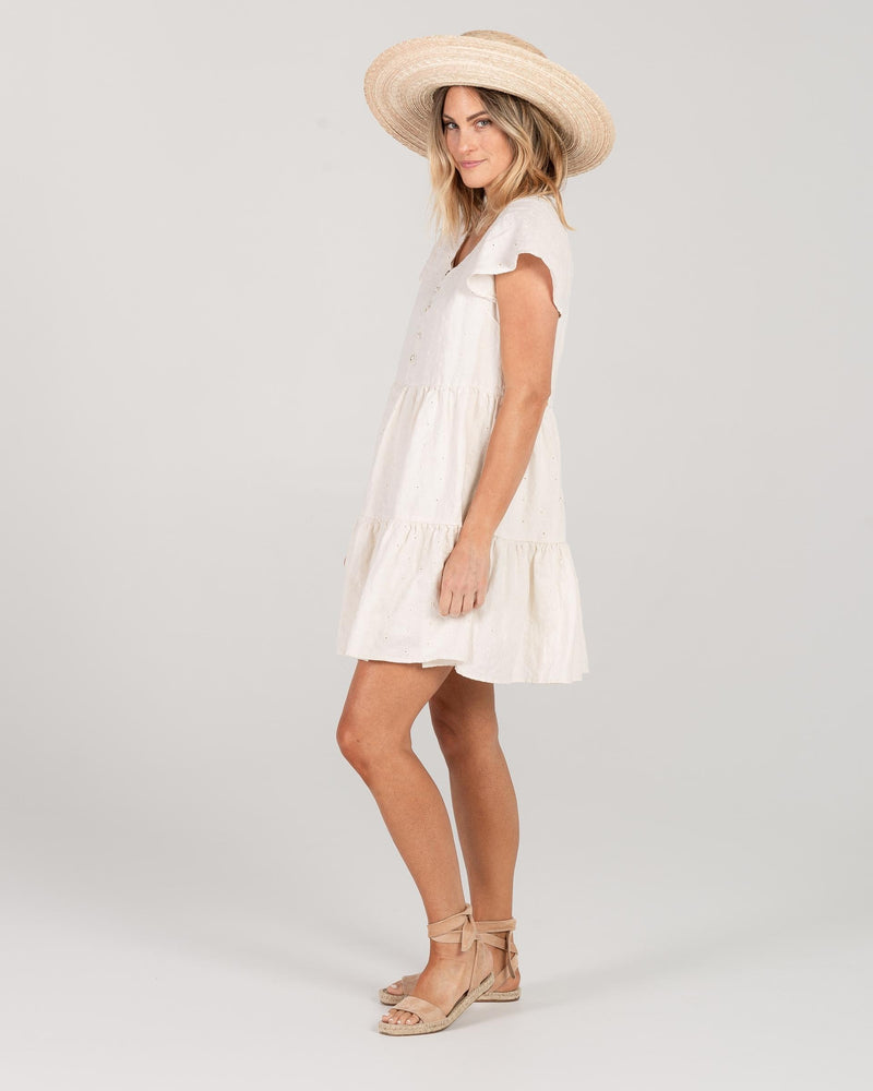 Rylee & Cru Eyelet Dolly Dress Natural