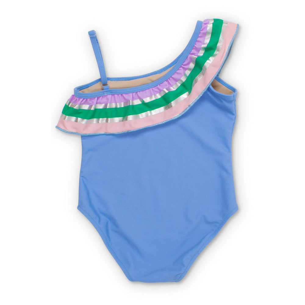 Periwinkle It's All Rainbows One Shoulder Swimsuit-Girl - Swimwear-Shade Critters-2T-Eden Lifestyle