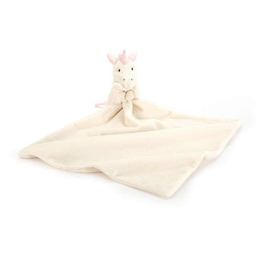 Jellycat Bashful Unicorn Soother-Swaddle-Jellycat-Eden Lifestyle