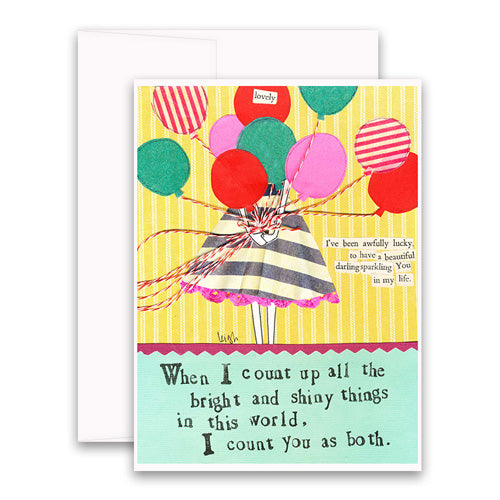 Bright and Shiny Things Greeting Card