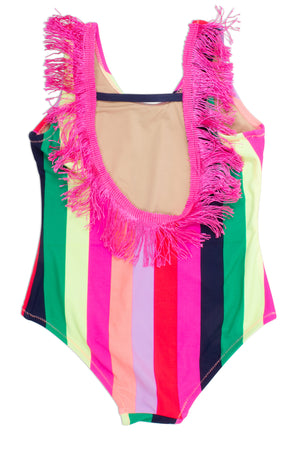 Shade Critters, Baby Girl Apparel - Swimwear,  Shade Critters Fringe Back One Piece - Multi Stripe Baby