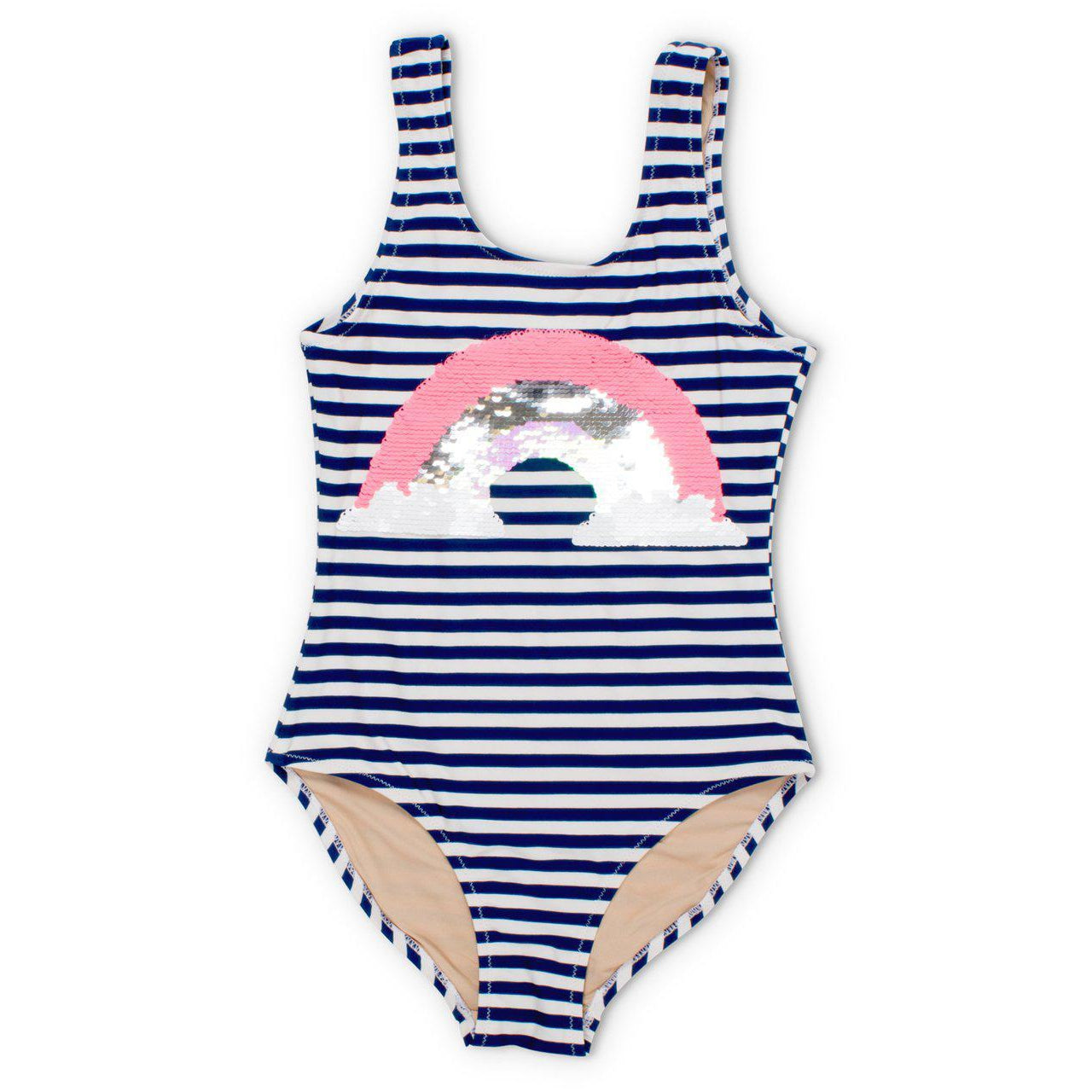 1a74c55f9f Shade Critters Magic Two-Way Sequins Rainbow Scoop Swimsuit-Girl - Swimwear- Shade