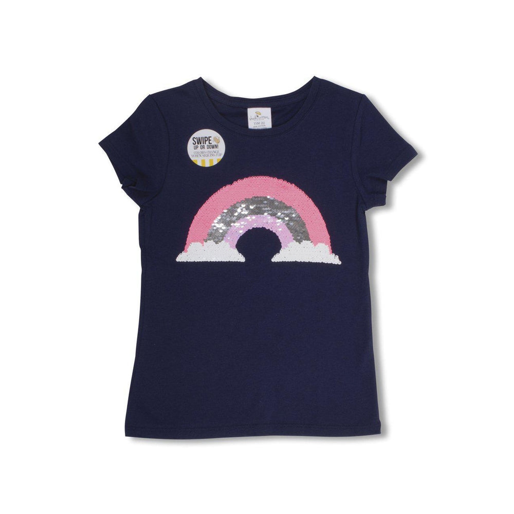 Shade Critters Magic Two-Way Sequins T-shirt - Rainbow-Girl - Tees-Shade Critters-YXS (4/5)-Eden Lifestyle