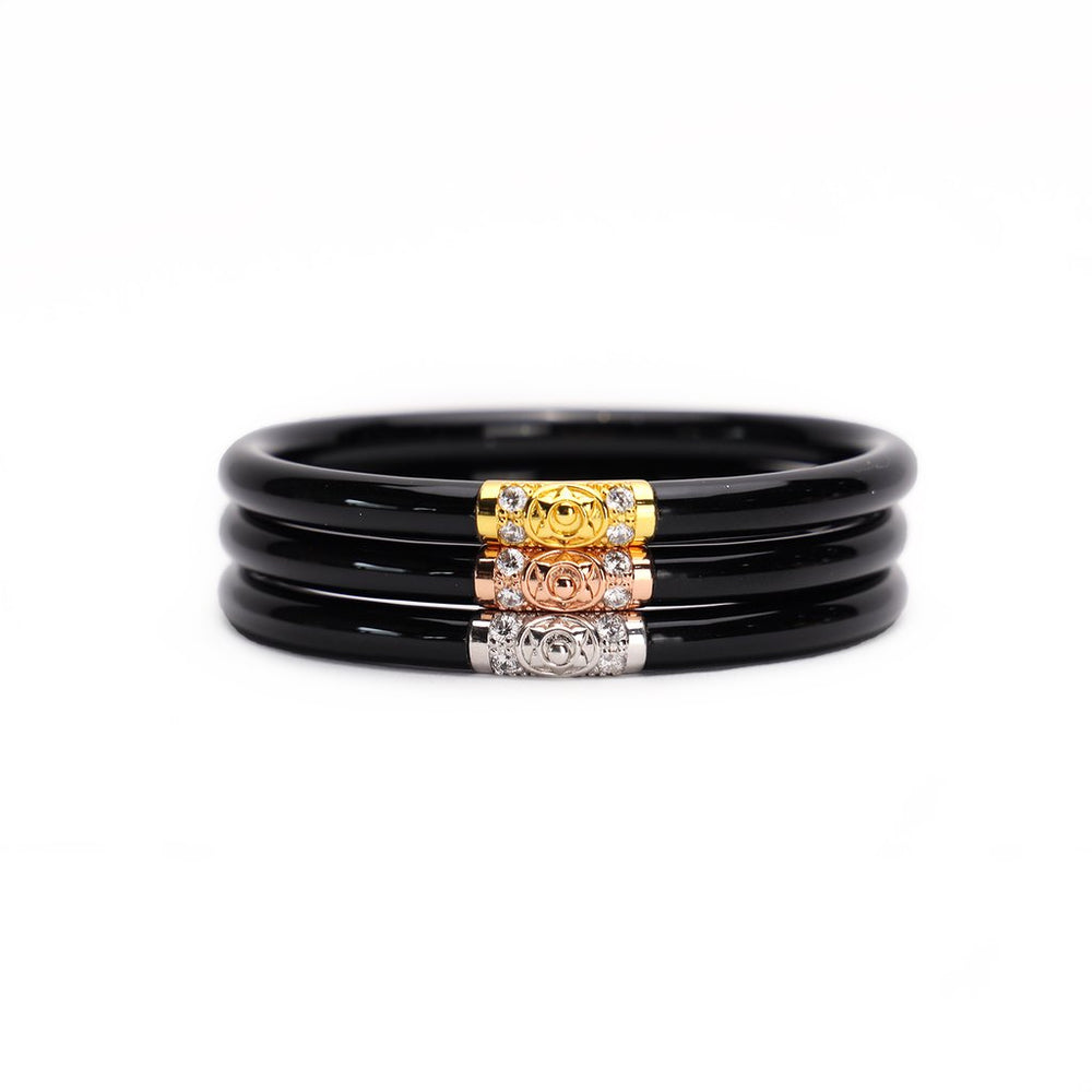 Budha Girl THREE KINGS ALL WEATHER BANGLES® (AWB®) - BLACK