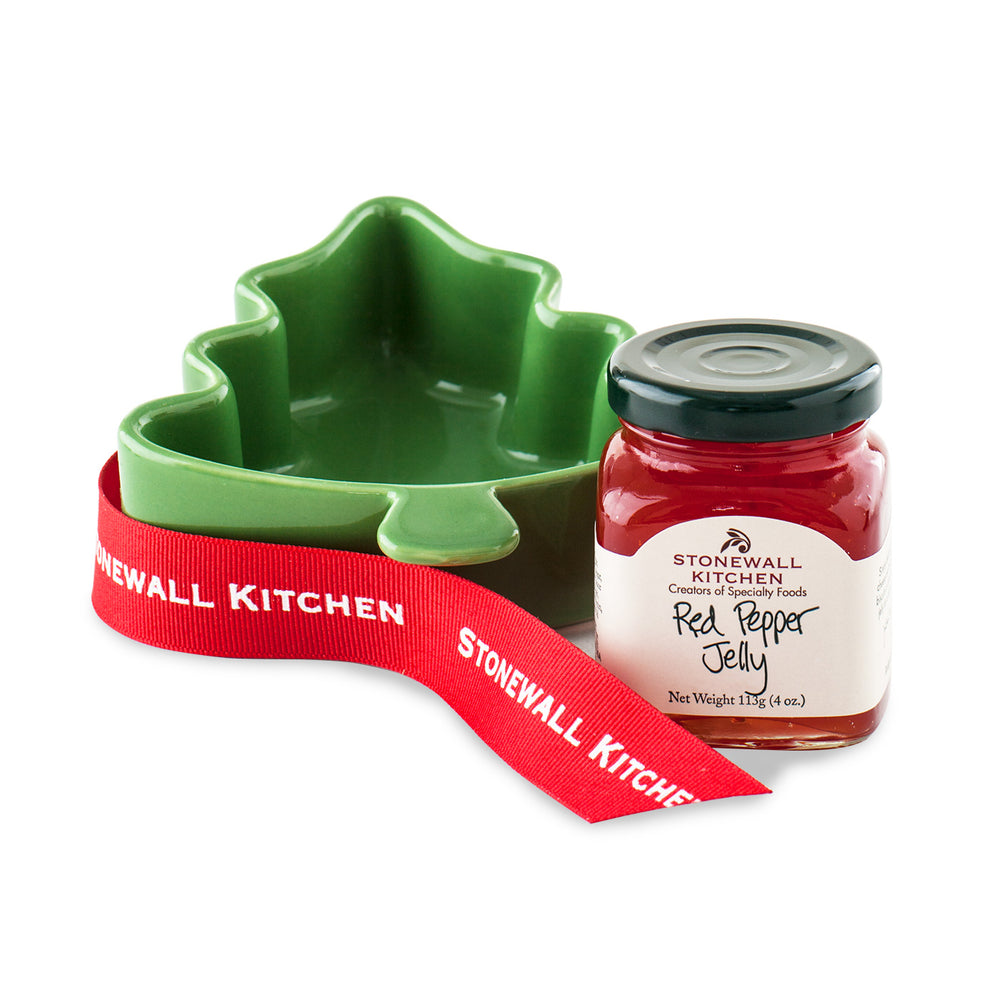 Stonewall Kitchen Red Pepper Jelly Tree Ramekin