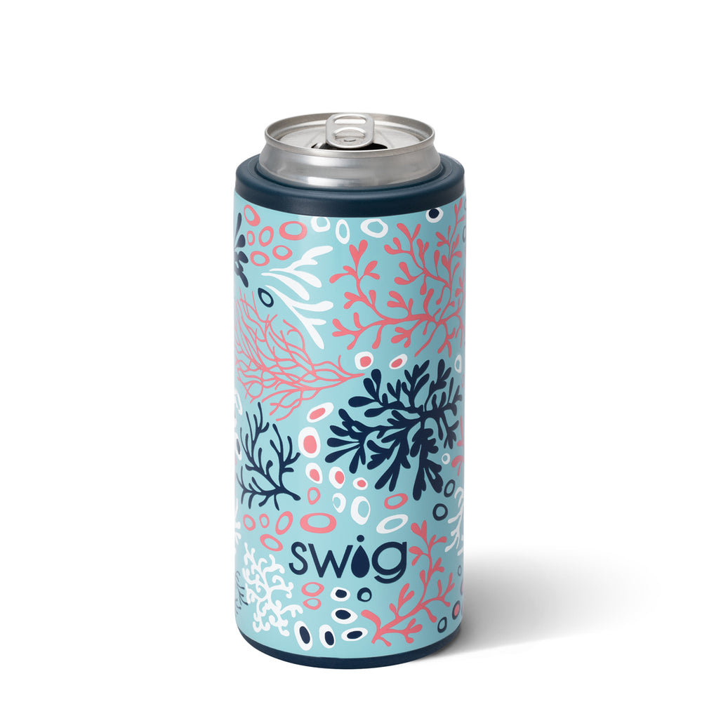Swig Coral Me Crazy Skinny Can Cooler (12oz) - Eden Lifestyle