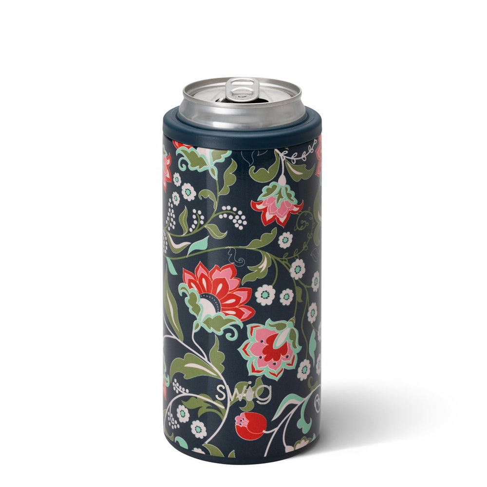Swig, Home - Drinkware,  Swig Lotus Blossom Skinny Can Cooler (12oz)