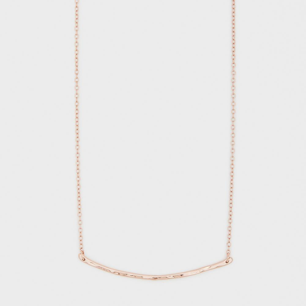 Gorjana, Accessories - Jewelry,  Gorjana - Taner Bar Small Necklace - Rose Gold