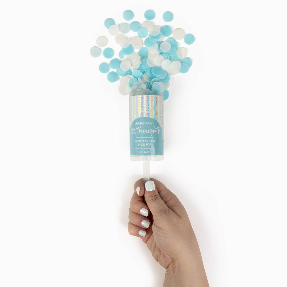 Cait + Co, Gifts - Bath Bombs,  Think Happy Thoughts Bath Confetti Push Pop