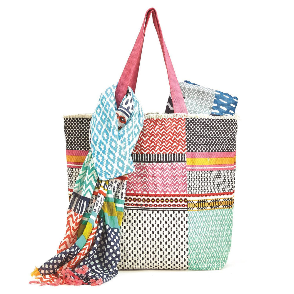 Pool Party Tote Set-Accessories - Handbags-Two's Company-Eden Lifestyle