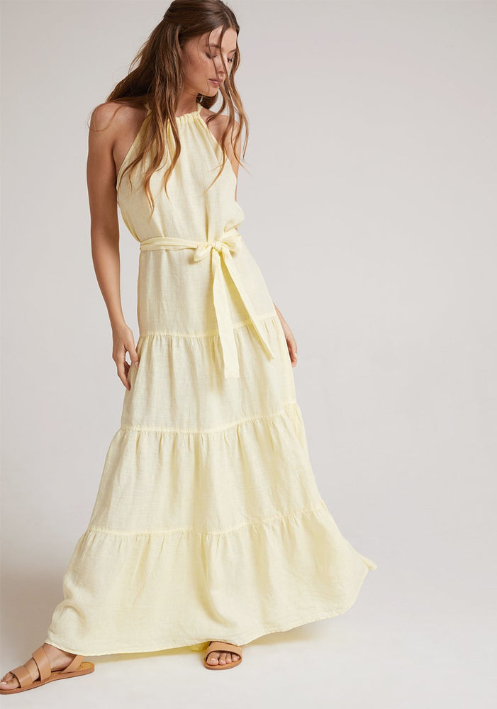 Sunlit Halter Maxi Dress