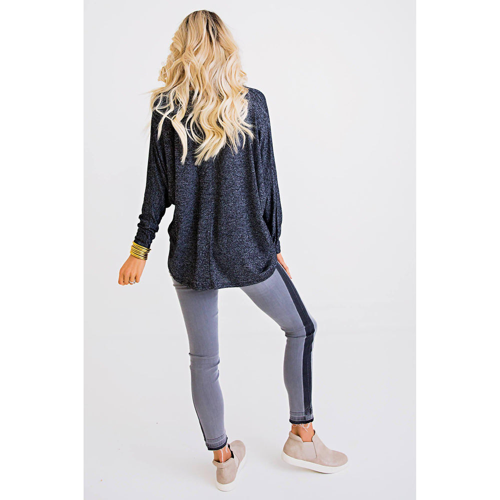 Eden Lifestyle, Women - Denim,  Gray Tuxedo Denim Crop