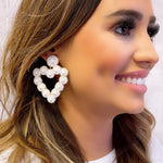 Eden Lifestyle, Accessories - Jewelry,  White Beaded Heart