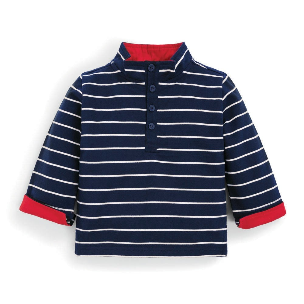 Navy Stripe Sweatshirt-Baby Boy Apparel - Shirts & Tops-Jojo Maman Bebe-12-18M-Eden Lifestyle