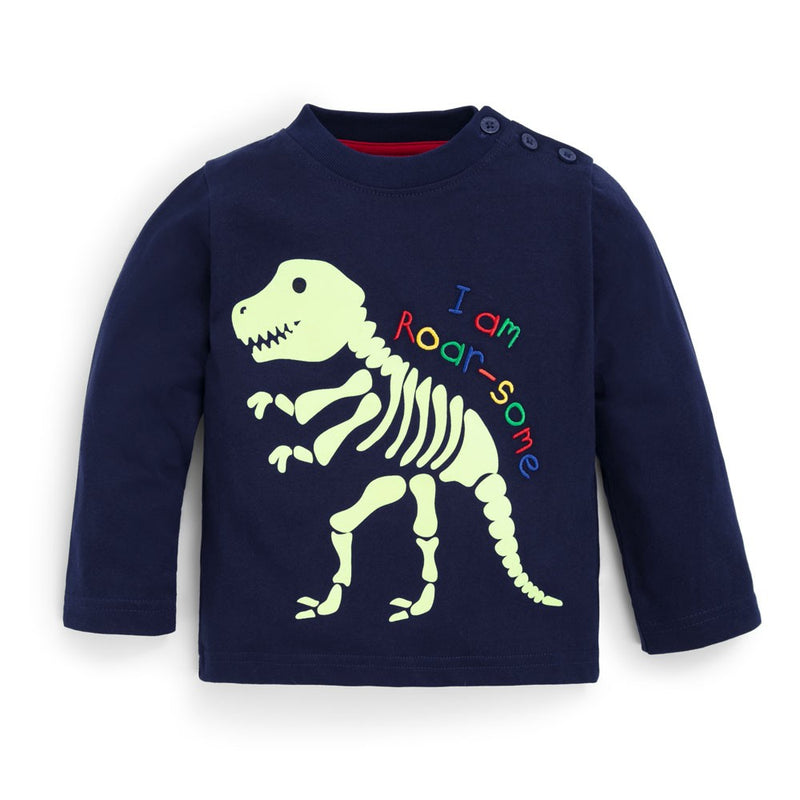 Navy Glow in the Dark Dinosaur Top