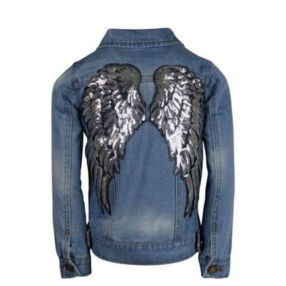Lola + the Boys Angel Wings Denim Jacket