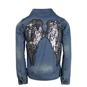 Lola + the Boys, Girl - Outerwear,  Lola + the Boys Angel Wings Denim Jacket