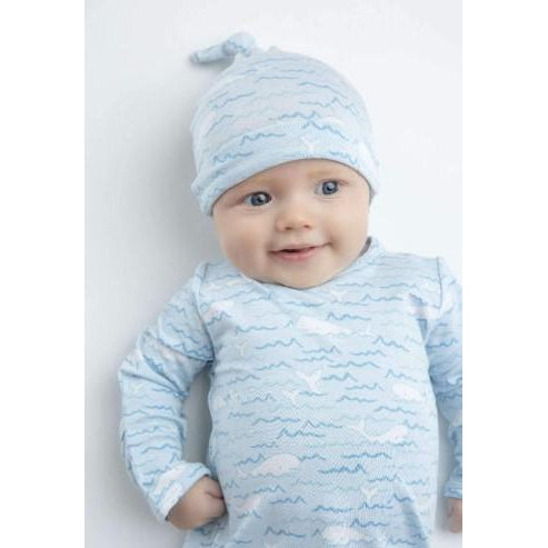 Angel Dear Baby Beluga Bamboo Knotted Hat-Accessories - Hats-Angel Dear-0-3M-Eden Lifestyle