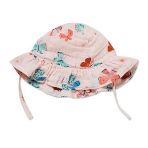 Angel Dear Butterflies Muslin Sun Hat-Accessories - Hats-Angel Dear-0-12M-Eden Lifestyle