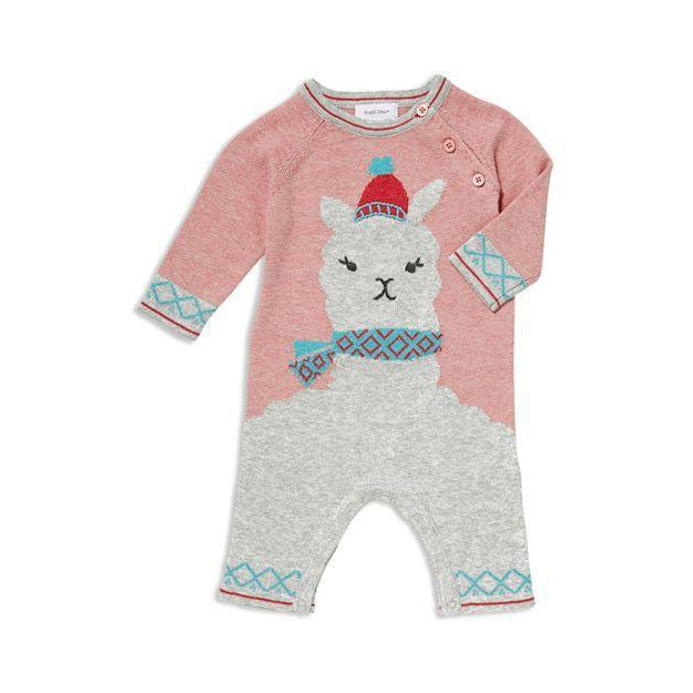 Angel Dear Llama Coverall-Baby Boy Apparel - One-Pieces-Angel Dear-0-3M-Eden Lifestyle
