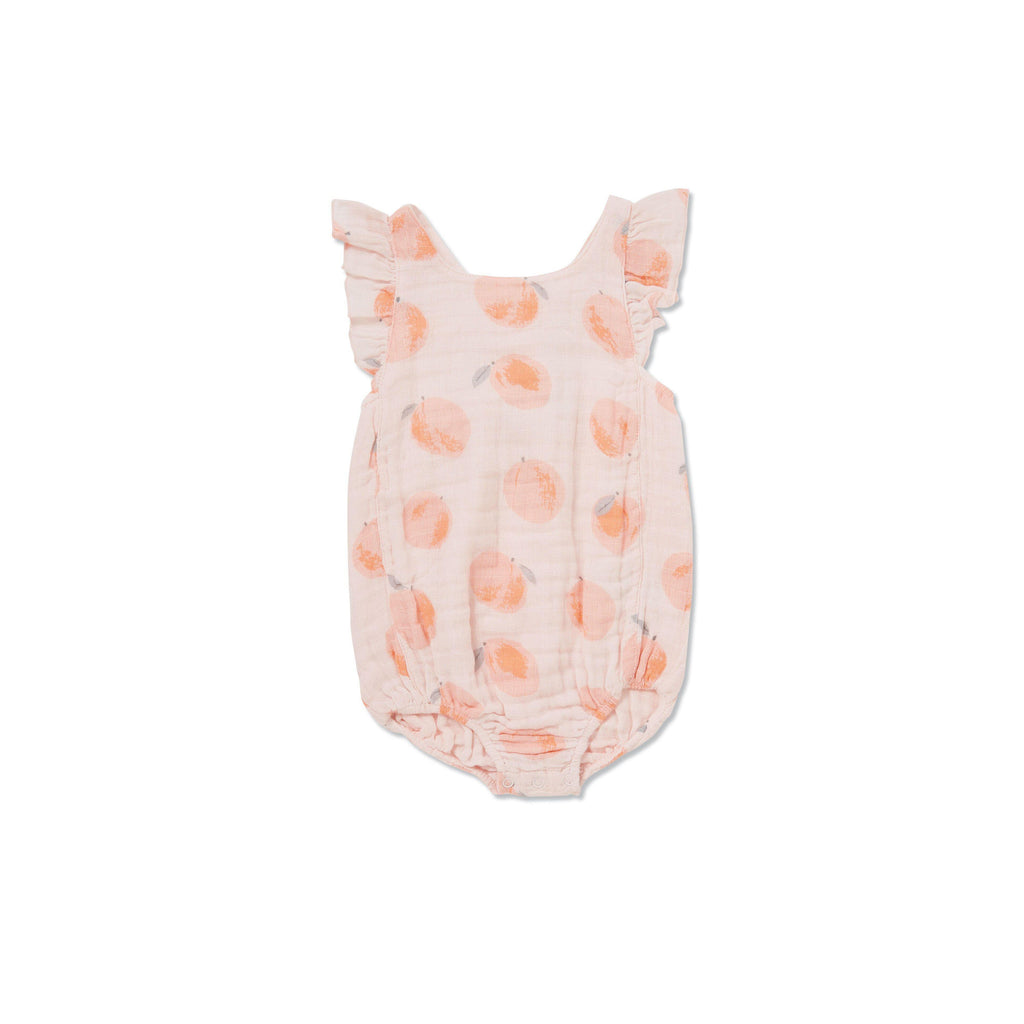 Angel Dear Peachy Muslin Sun suit-Baby Girl Apparel - One-Pieces-Angel Dear-0-3M-Eden Lifestyle