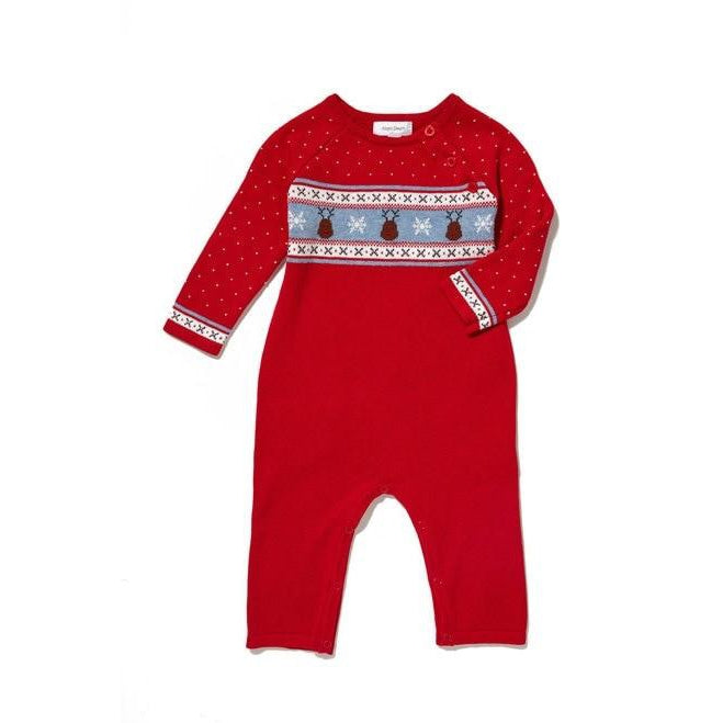 Angel Dear Reindeer Fair Isle Coverall-Baby Boy Apparel - One-Pieces-Angel Dear-0-3M-Eden Lifestyle