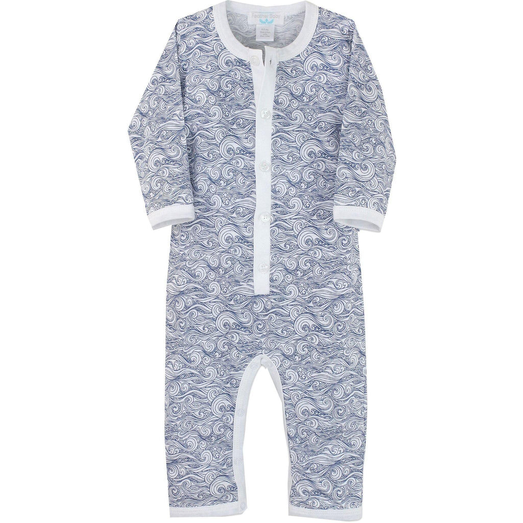 Feather Baby Anime Wave Romper-Baby Boy Apparel - Rompers-Feather Baby-0-3M-Eden Lifestyle