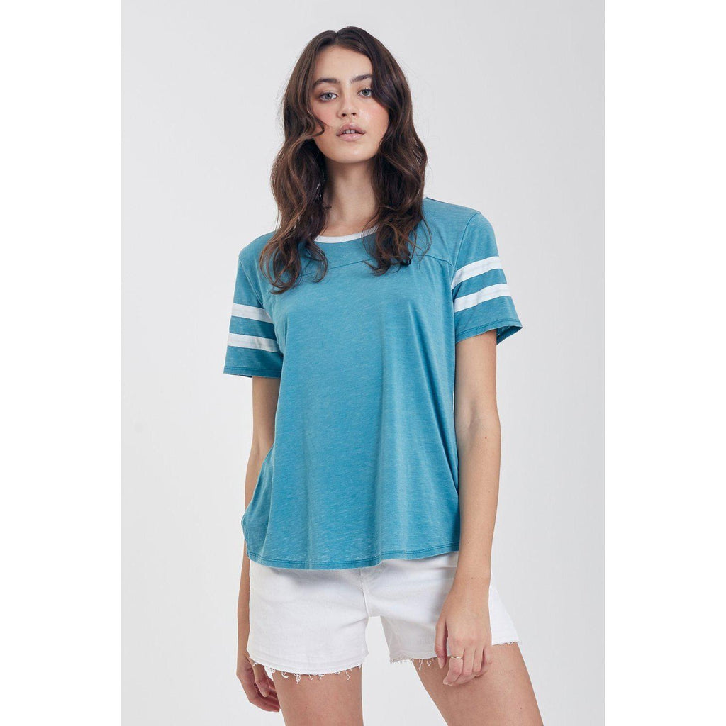 Analisa Burnout Sea Blue-Women - Tees-Another Love-XSmall-Eden Lifestyle